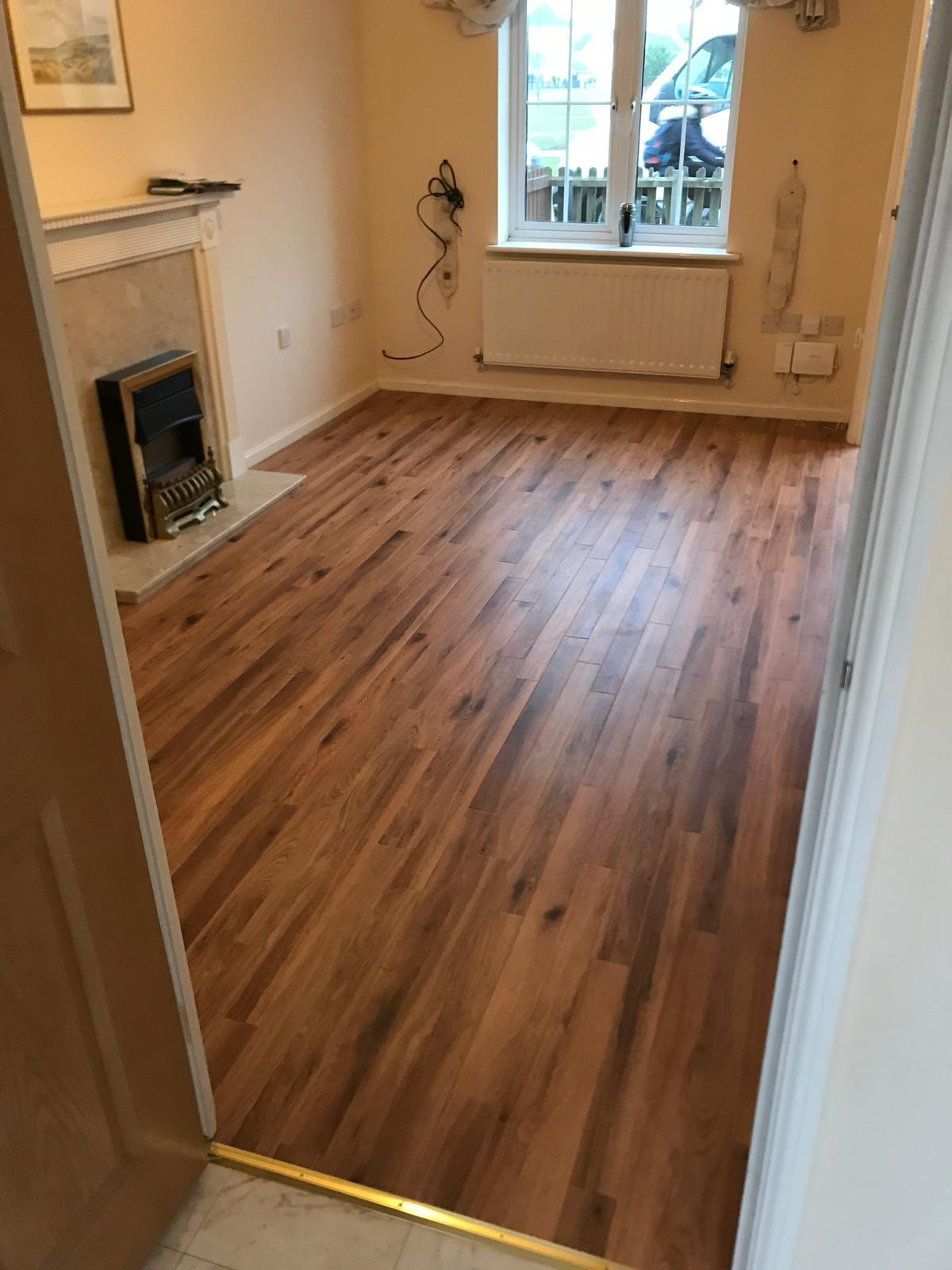 New wood flooring for a lounge